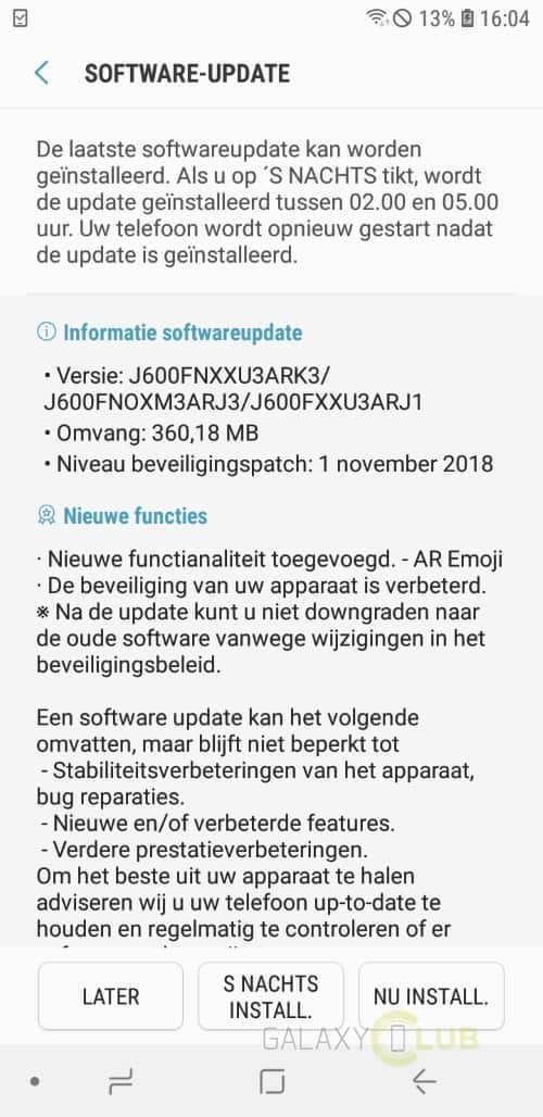 2018 j6 firmware