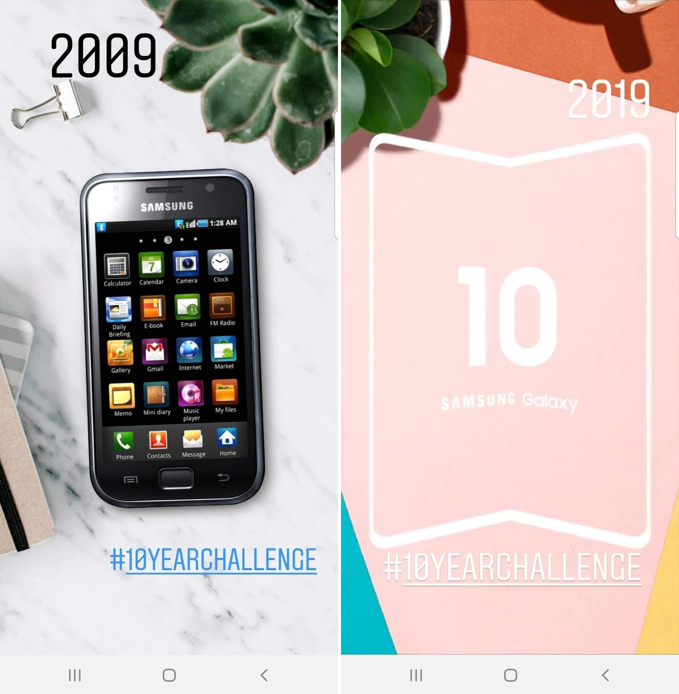 samsung foldable phone 10yearchallenge