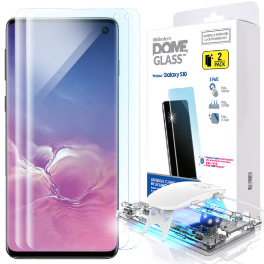 Its Easy Installation 3 Packs Galaxy S10 6.1 UV Tempered Glass Screen Protector with UV Light Compatible with UltraSonic Fingerprint Scanner UV Gel Application
