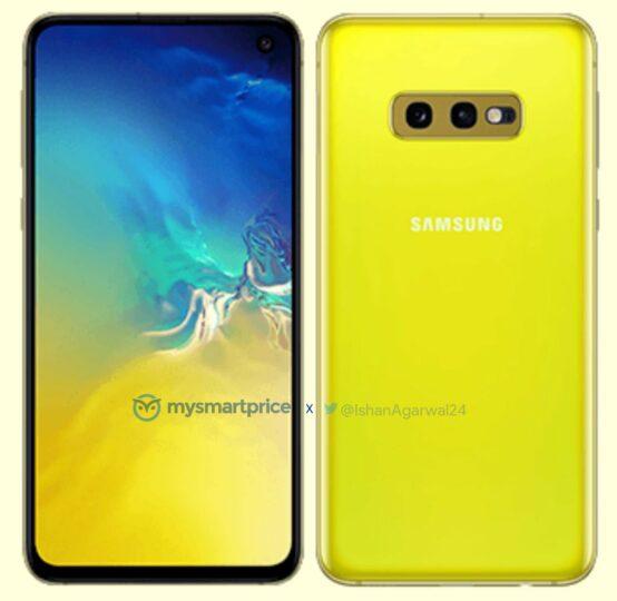 Canary Yellow Galaxy S10e
