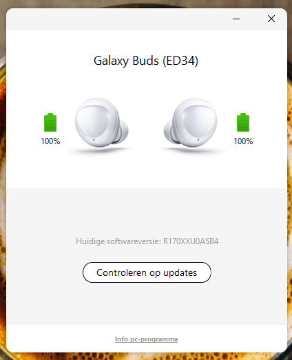 You can update Galaxy Buds firmware using your computer as