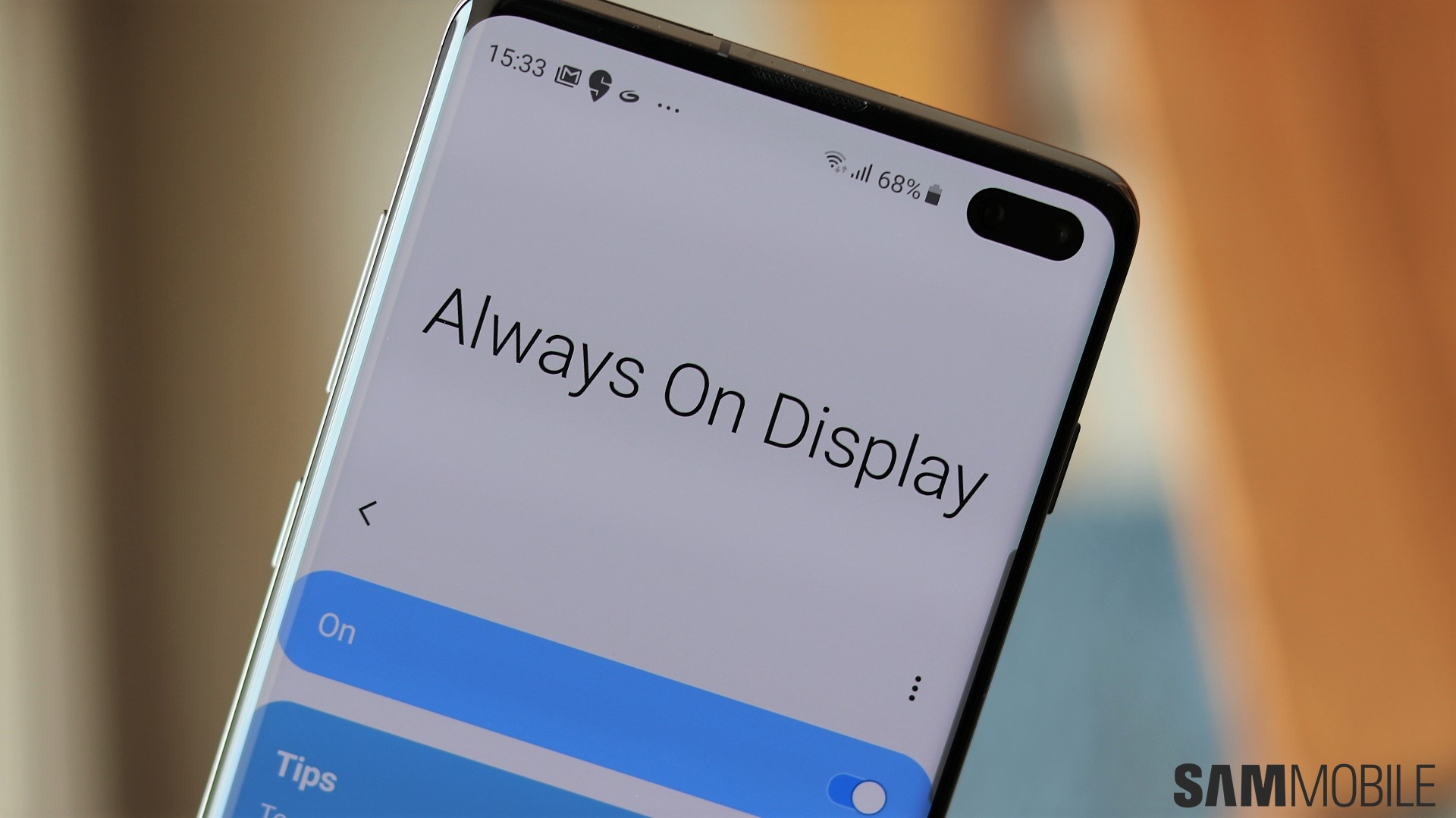 Galaxy S10 lets you use Always On Display in landscape