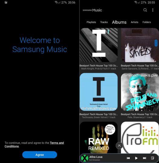 samsung music one ui update
