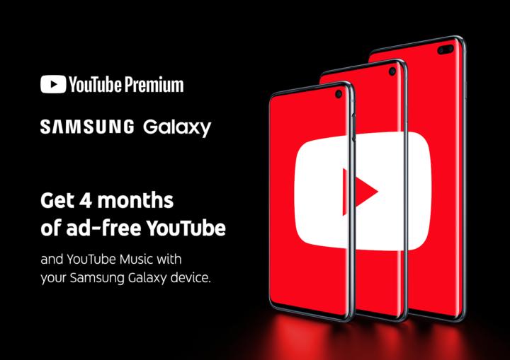YouTube Premium Galaxy S10