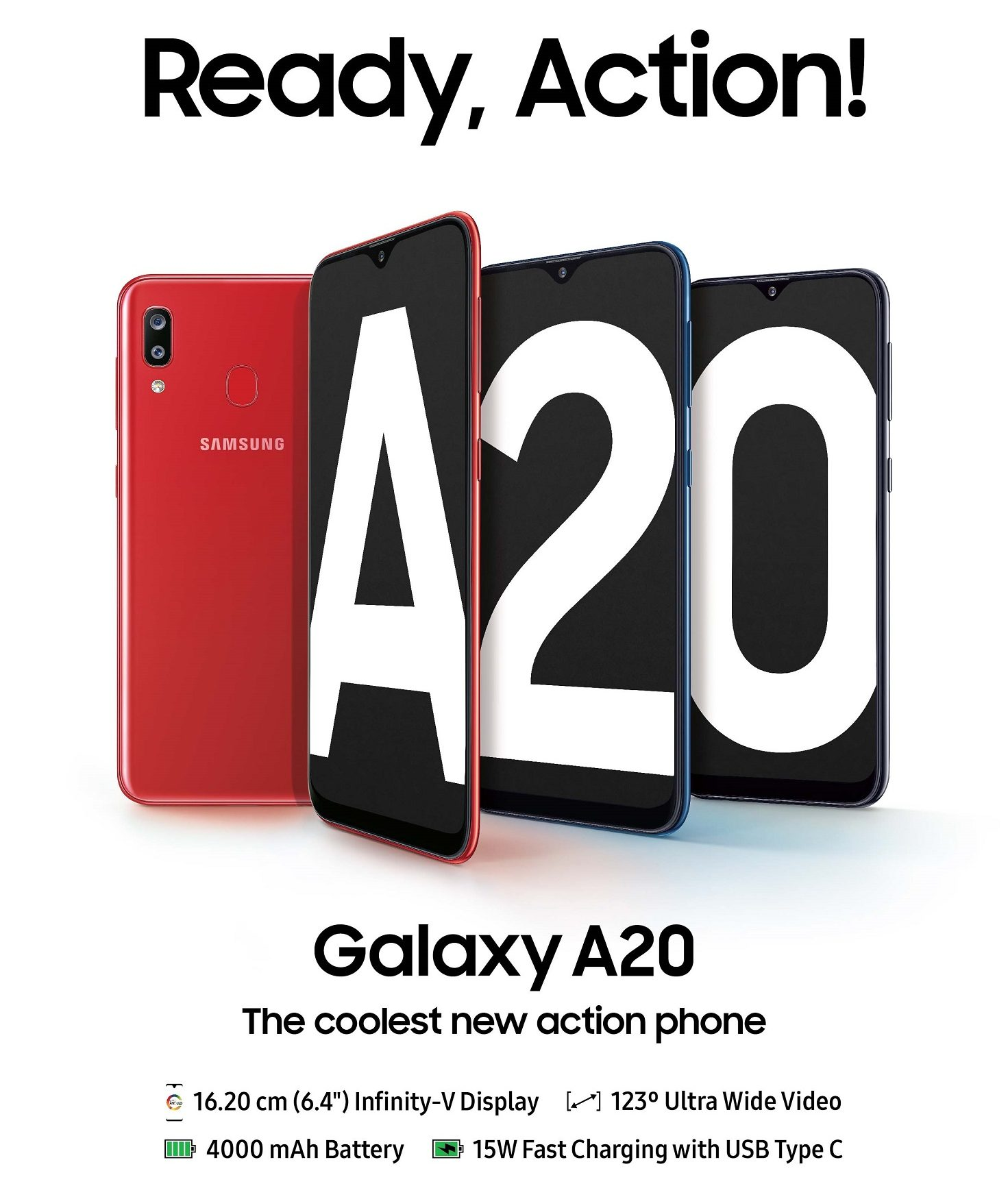 Samsung brings the Galaxy A20 to its already crowded lineup