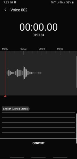 Samsung Voice Recorder app update brings Night mode and more