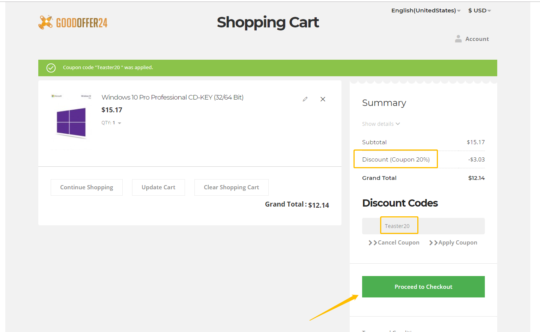 goodoffer24 shopping cart