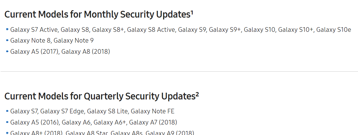 galaxy s7 security update