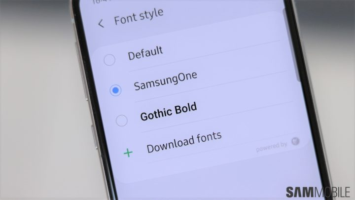 How to enable the Samsung One font on the Galaxy S10 - SamMobile