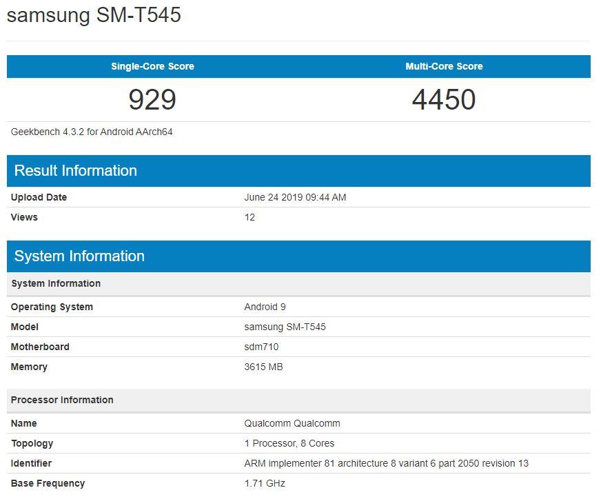 samsung sm t545