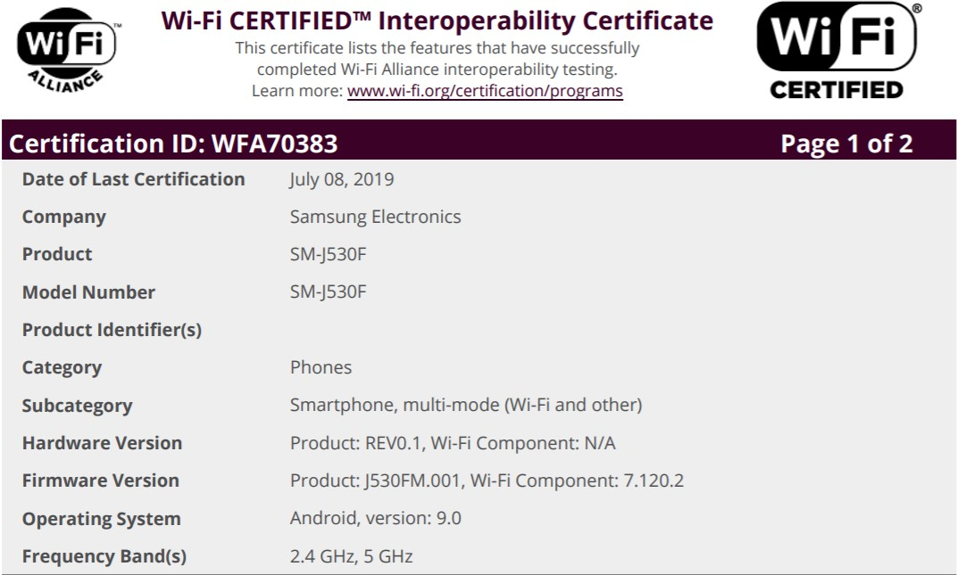 Galaxy J5 (2017) and J5 Pro (2017) set to receive the Android Pie update soon