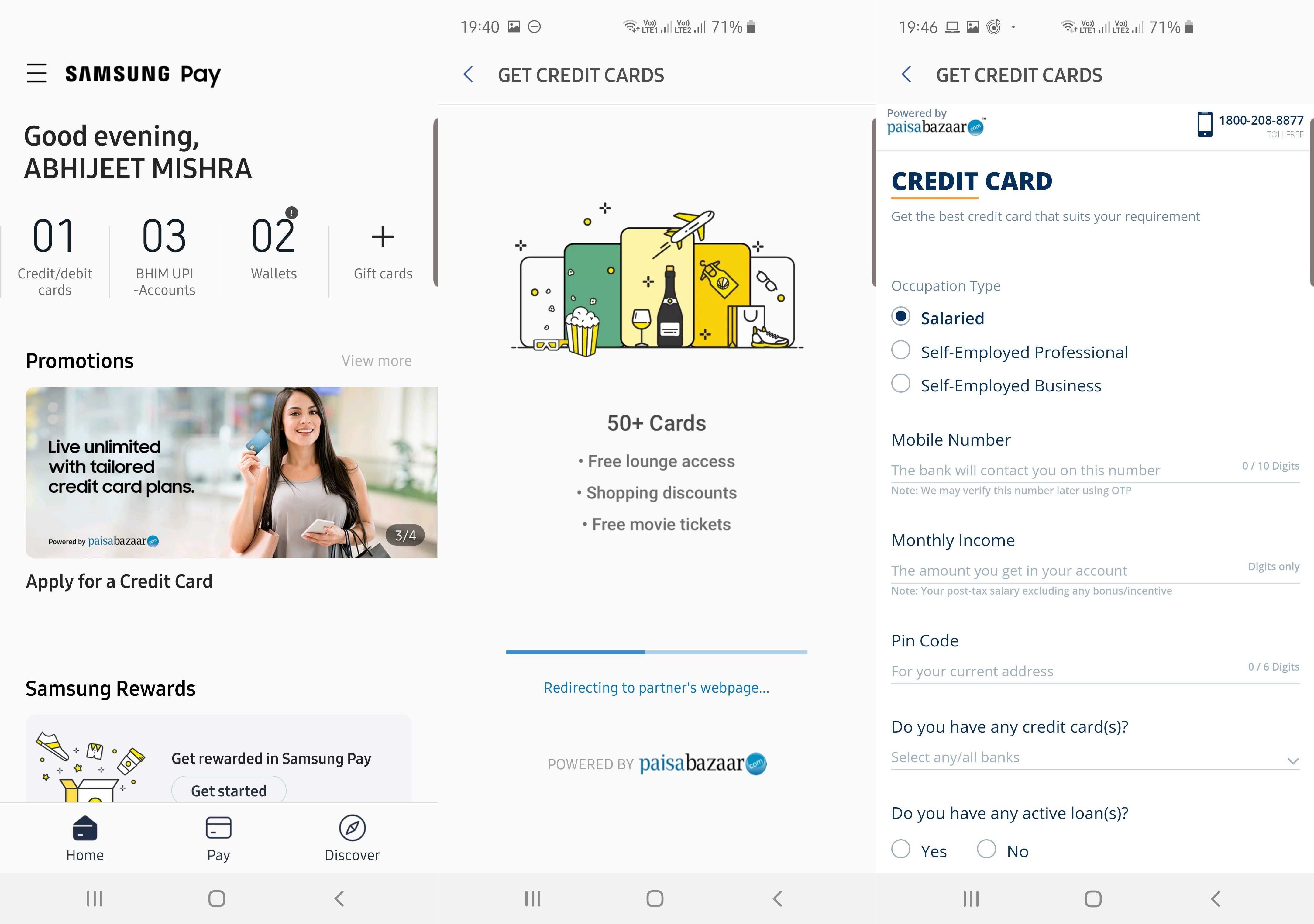 Samsung Pay in India now lets you apply for loans and credit