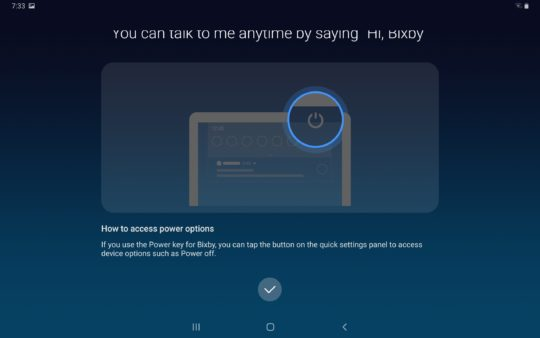 Galaxy Tab S5e bixby voice