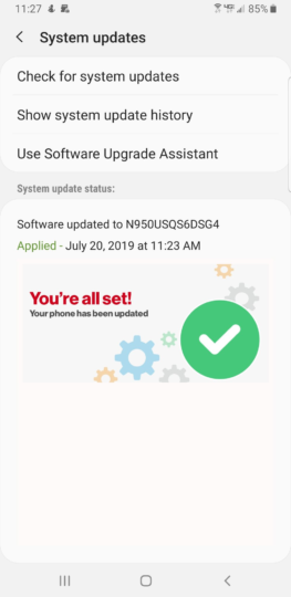 Galaxy Note 8 getting July security update on Verizon and