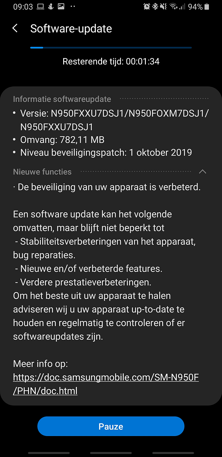 Galaxy Note 8 Update Brings October 2019 Security Patch