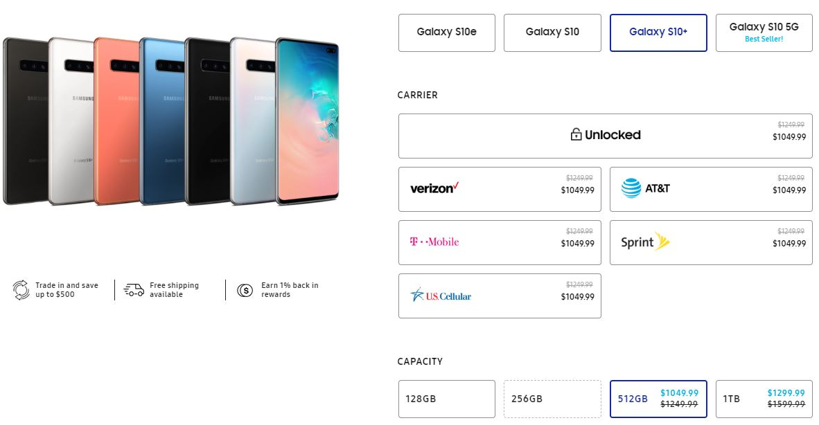 Galaxy s10 discount deal usa