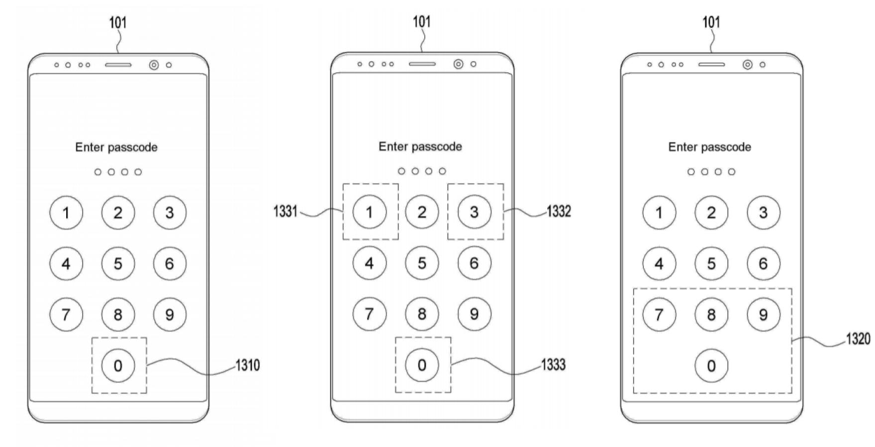 samsung patent two factor authentication fingerprint pin