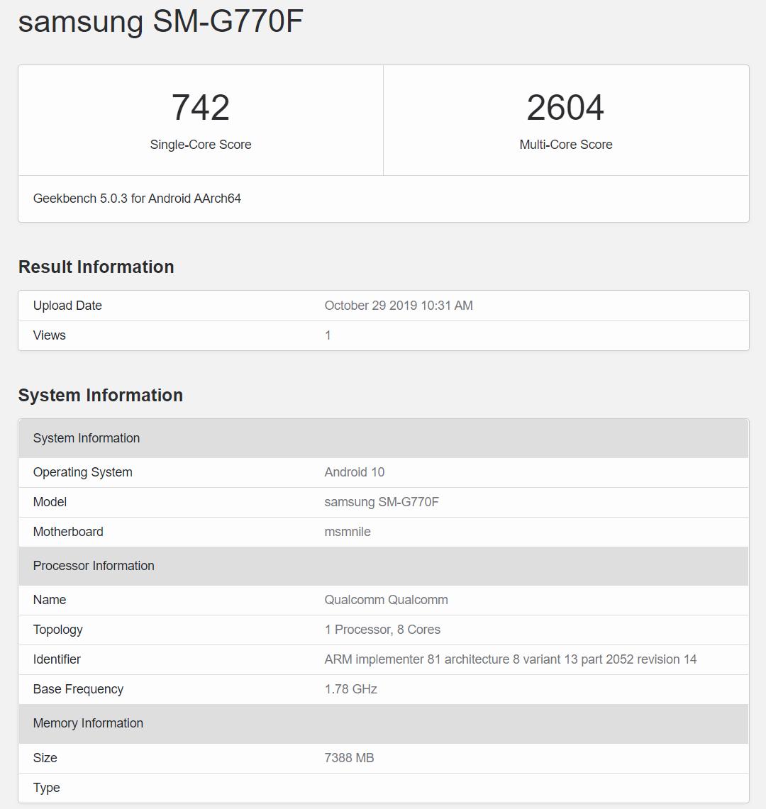 samsung sm-g770f geekbench