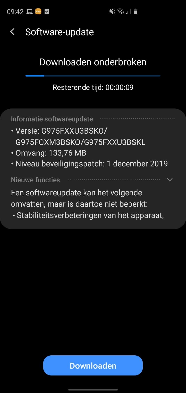 Samsung Galaxy S10 Android 10 升级