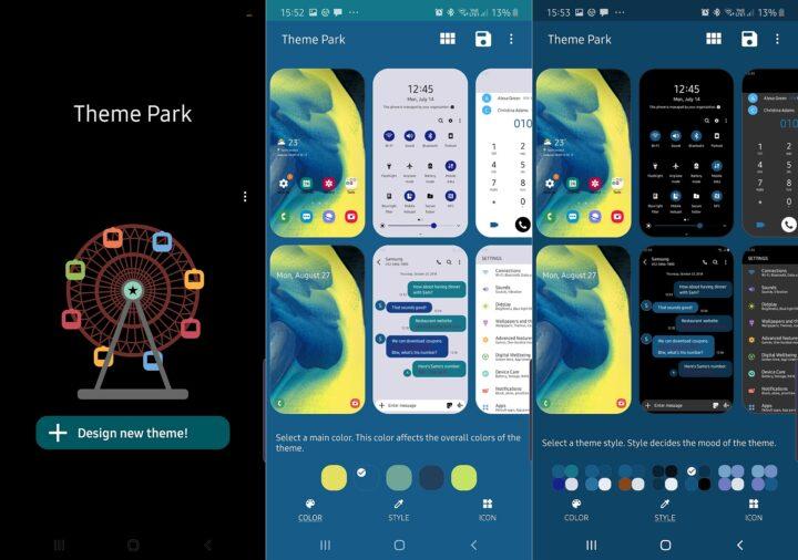 تطبيق Theme Park من سامسونج يتيح لك إنشاء ثيمات خاصة تيك فويس