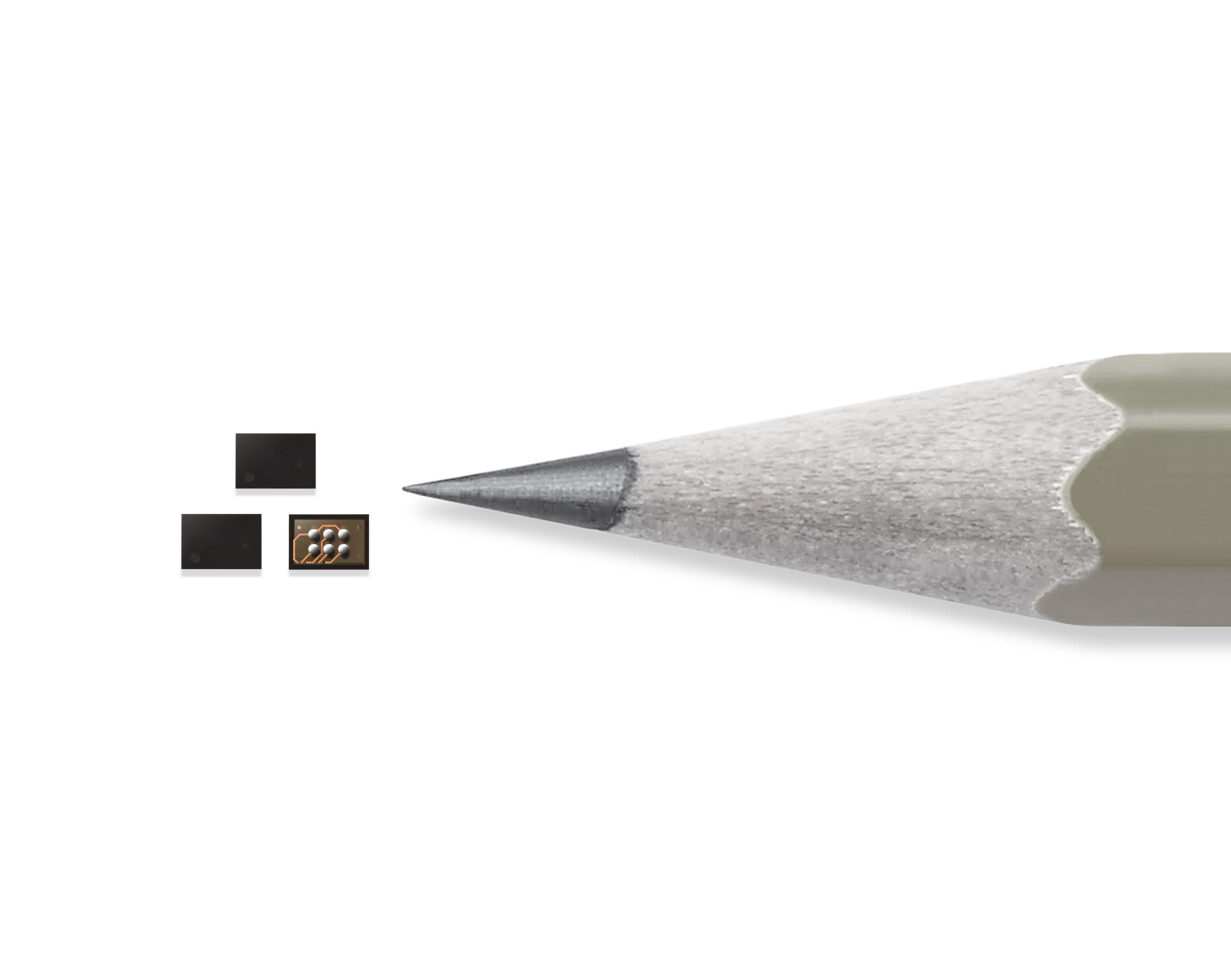 Samsung Secure Element S3K250AF Data Security Chip Size Comparison