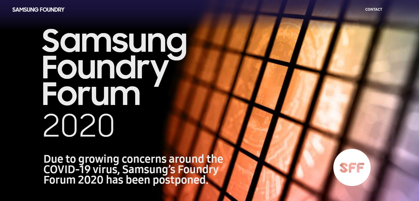 Samsung Foundry Forum 2020 Delayed