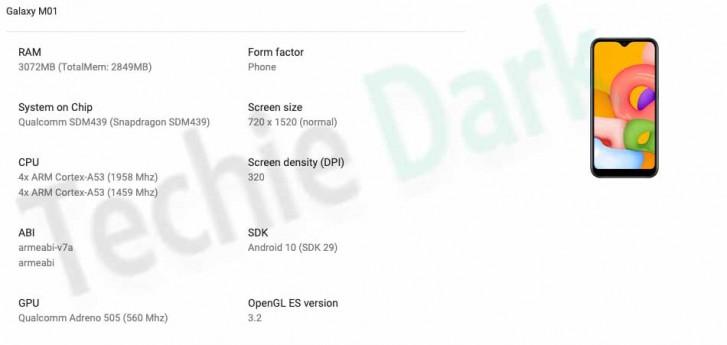 Samsung Galaxy M01 Specs Google Play Console