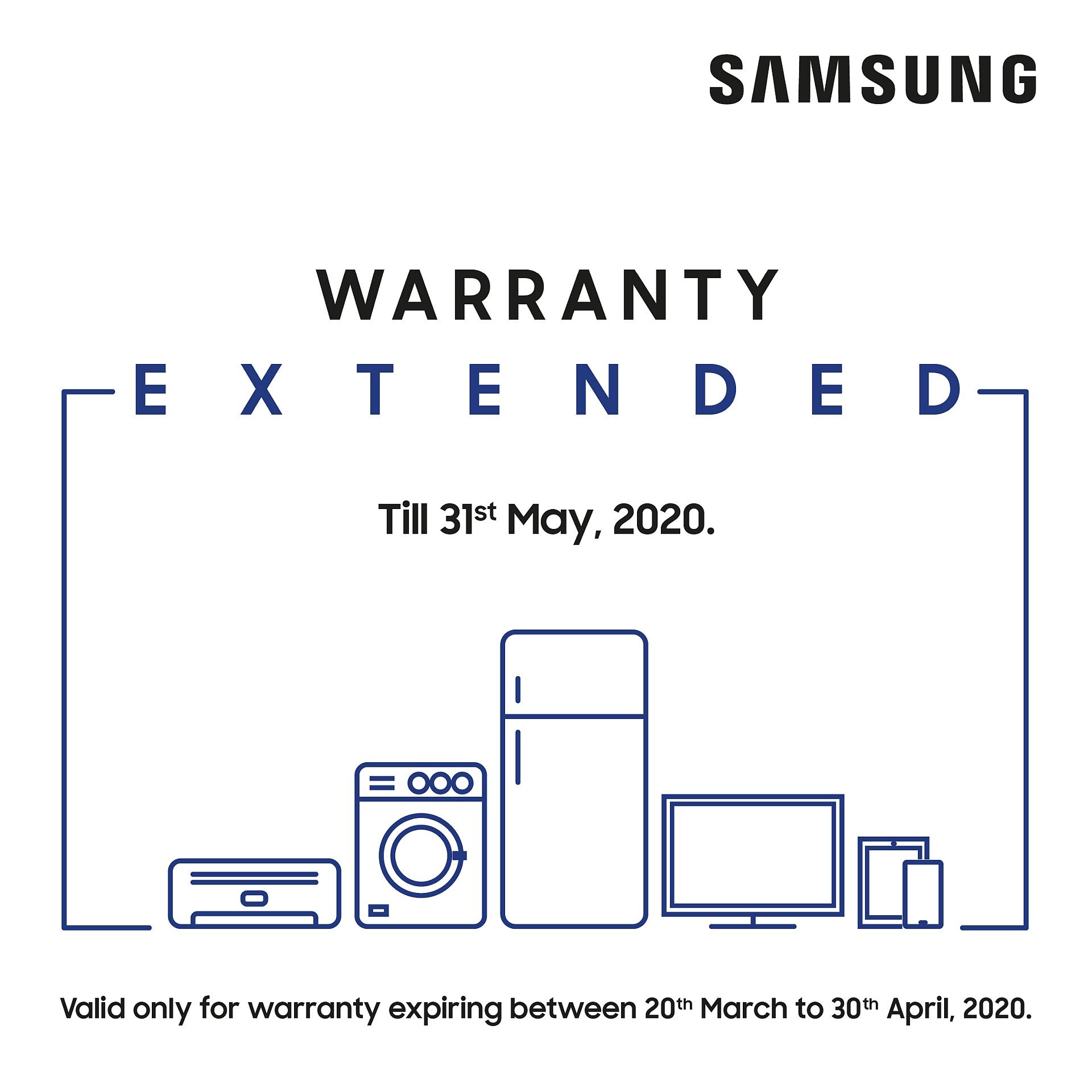 Samsung India warranty extension