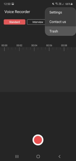 Samsung Voice Recorder Trash