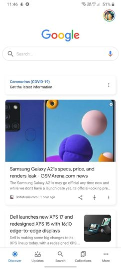 Google App Dark Mode Broken On Galaxy Phones