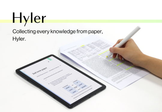 Hyler Text Highlighter Digitizer Samsung C-Lab Spin-Off Startup