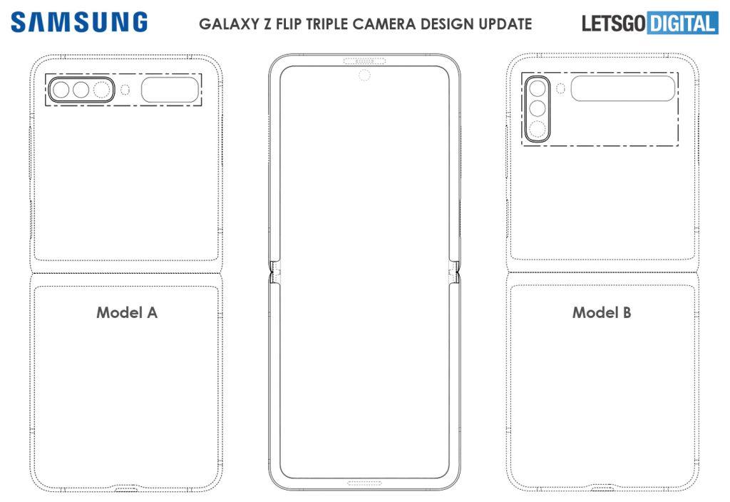 Samsung Galaxy Z Flip 2 Triple-Camera Patent
