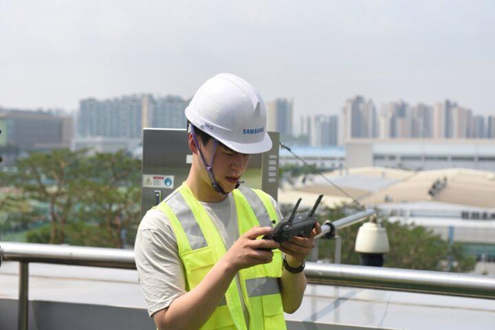 Solución de inteligencia artificial basada en drones de Samsung para administrar 4G 5G Cell Towers Sitio de Samsung