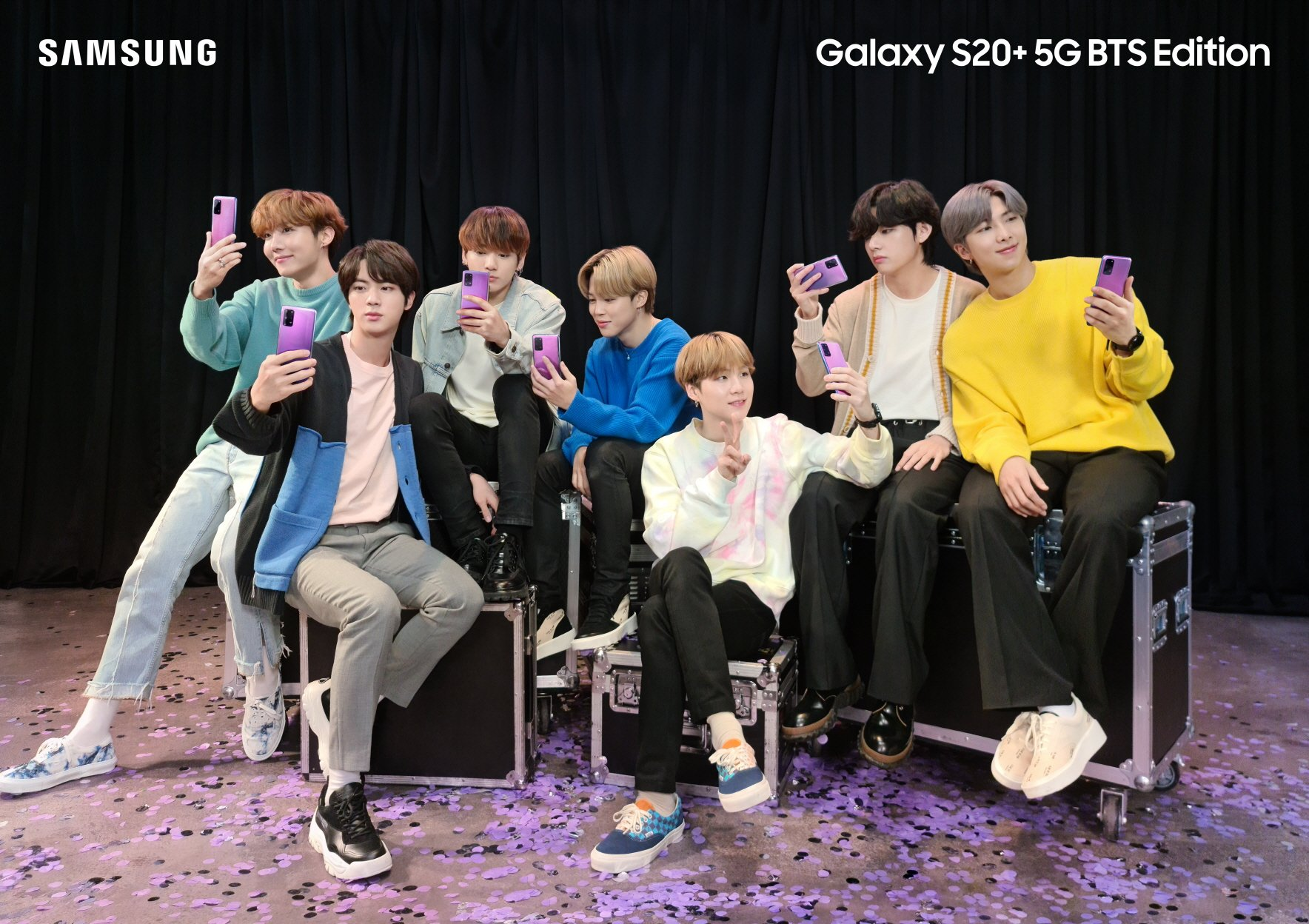Samsung Unveils Bts Themed Galaxy S20 And Galaxy Buds Sammobile
