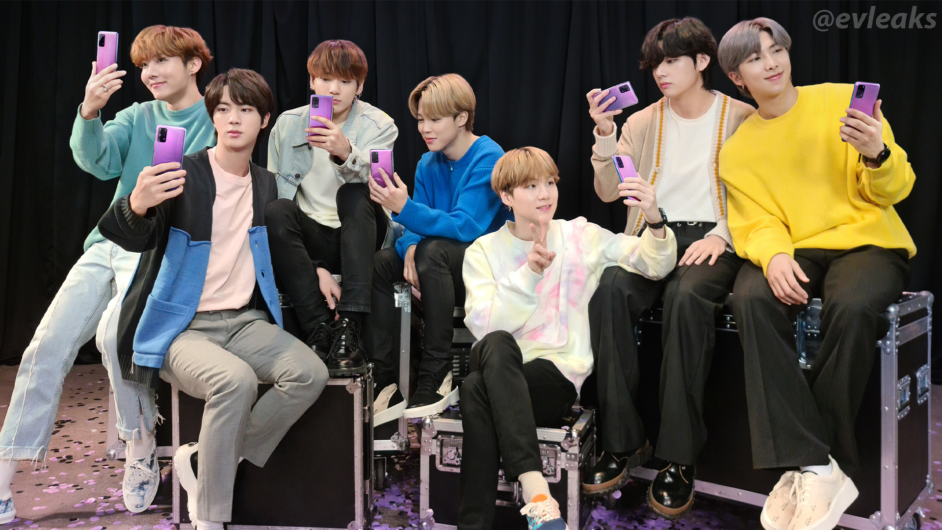 Samsung Galaxy S20 BTS Edition With BTS Members