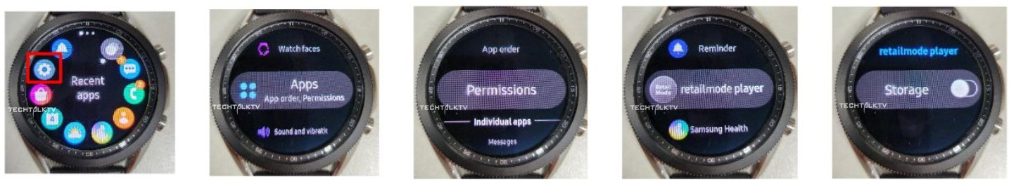 Samsung Galaxy Watch 3 Software UI Tizen