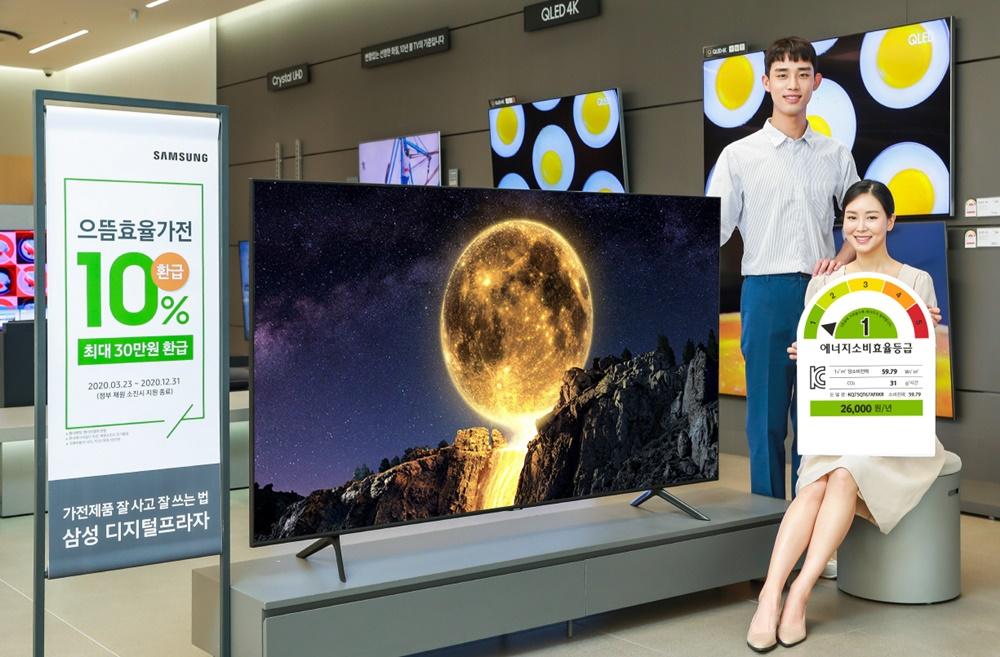 Samsung QT67 Series QLED TV First-Class Energy Consumption Efficiency South Korea