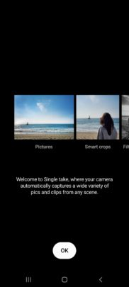 Samsung Galaxy A71 One UI 2.1 Update Camera Single Take