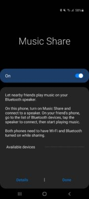 Samsung Galaxy A71 One UI 2.1 Update Music Share