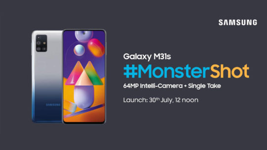 Samsung Galaxy M31s Launch Date India