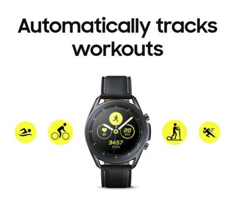 Samsung Galaxy Watch 3 Automatic Workout Tracking
