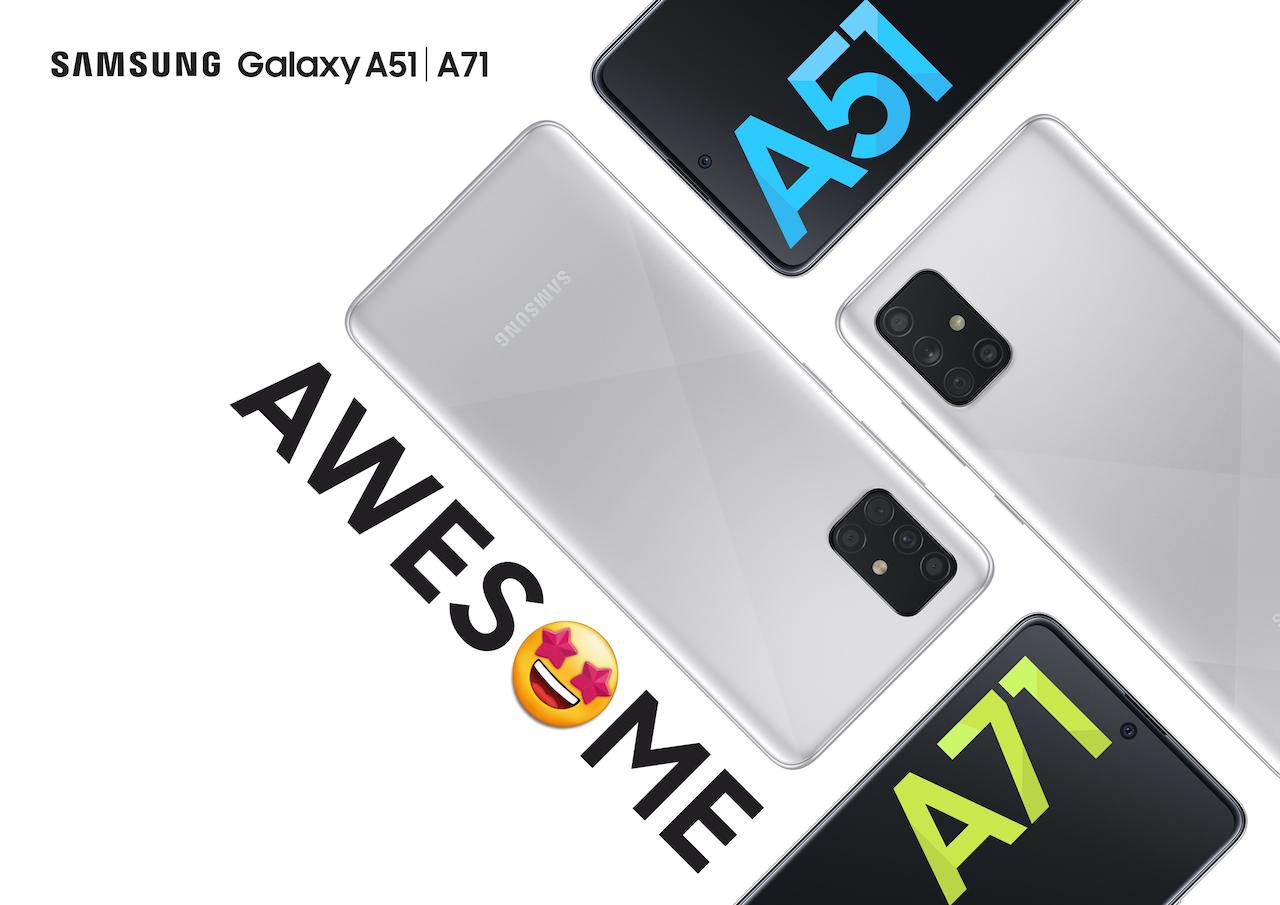 Galaxy A51 And Galaxy A71 Get A New Haze Crush Silver Color Sammobile