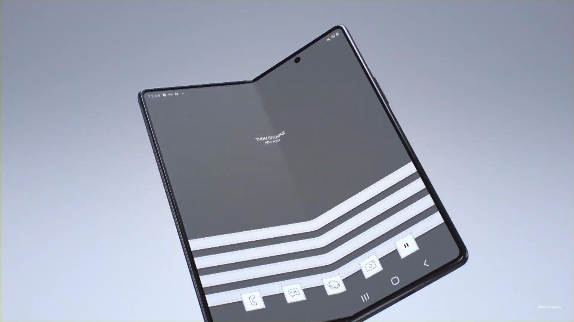 Feast Your Eyes On The Fashionable Galaxy Z Fold 2 Thom Browne Edition Sammobile