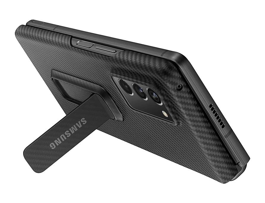 Samsung Galaxy Z Fold 2 Aramid Standing Cover Black Folded Kickstand
