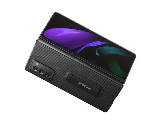 Samsung Galaxy Z Fold 2 Aramid Standing Cover Black Open