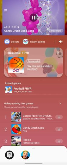 Samsung Game Launcher Update