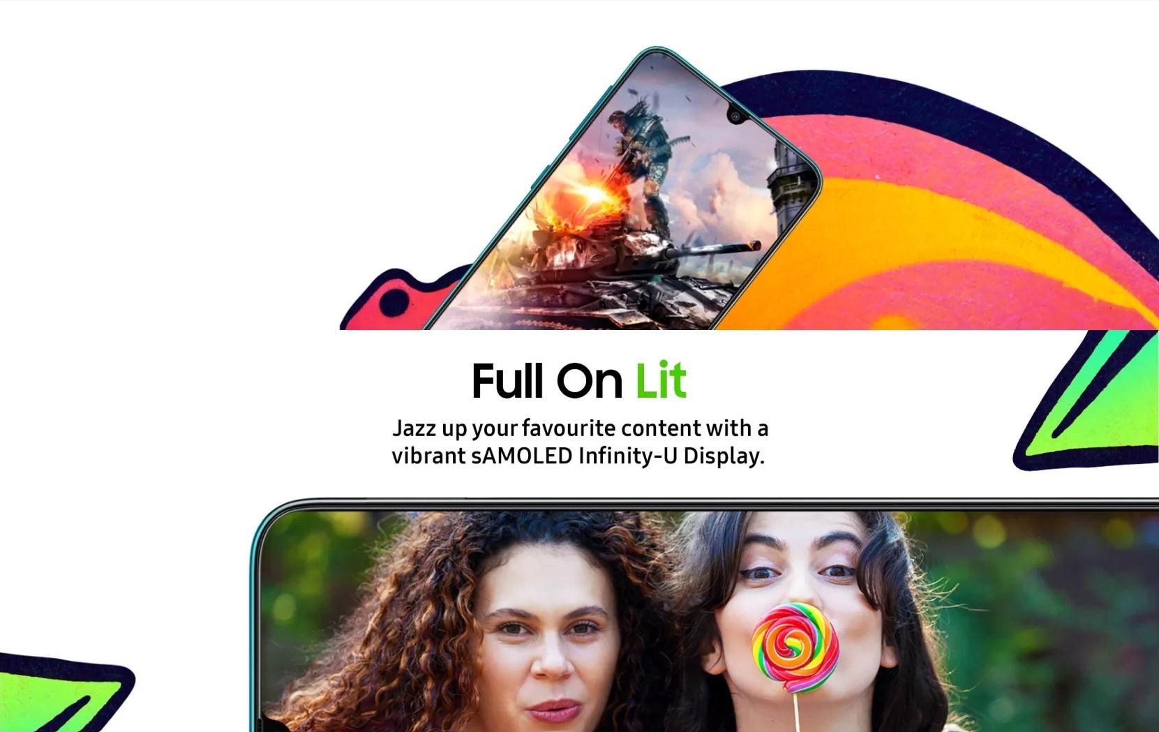 Samsung Galaxy F41 Super AMOLED Infinity-U Display