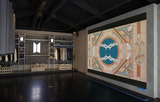 Samsung Micro LED TV At BTS Pop-Up Map Of The Soul Store South Korea