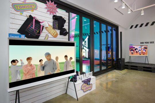 Samsung The Serif TV At BTS Pop-Up Store South Korea