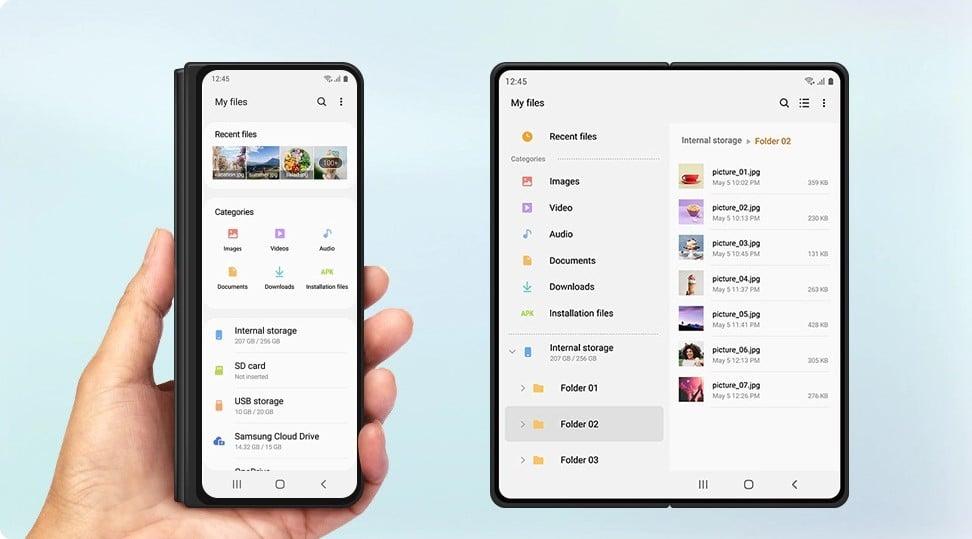 One UI 3.0 Galaxy Z Fold 2